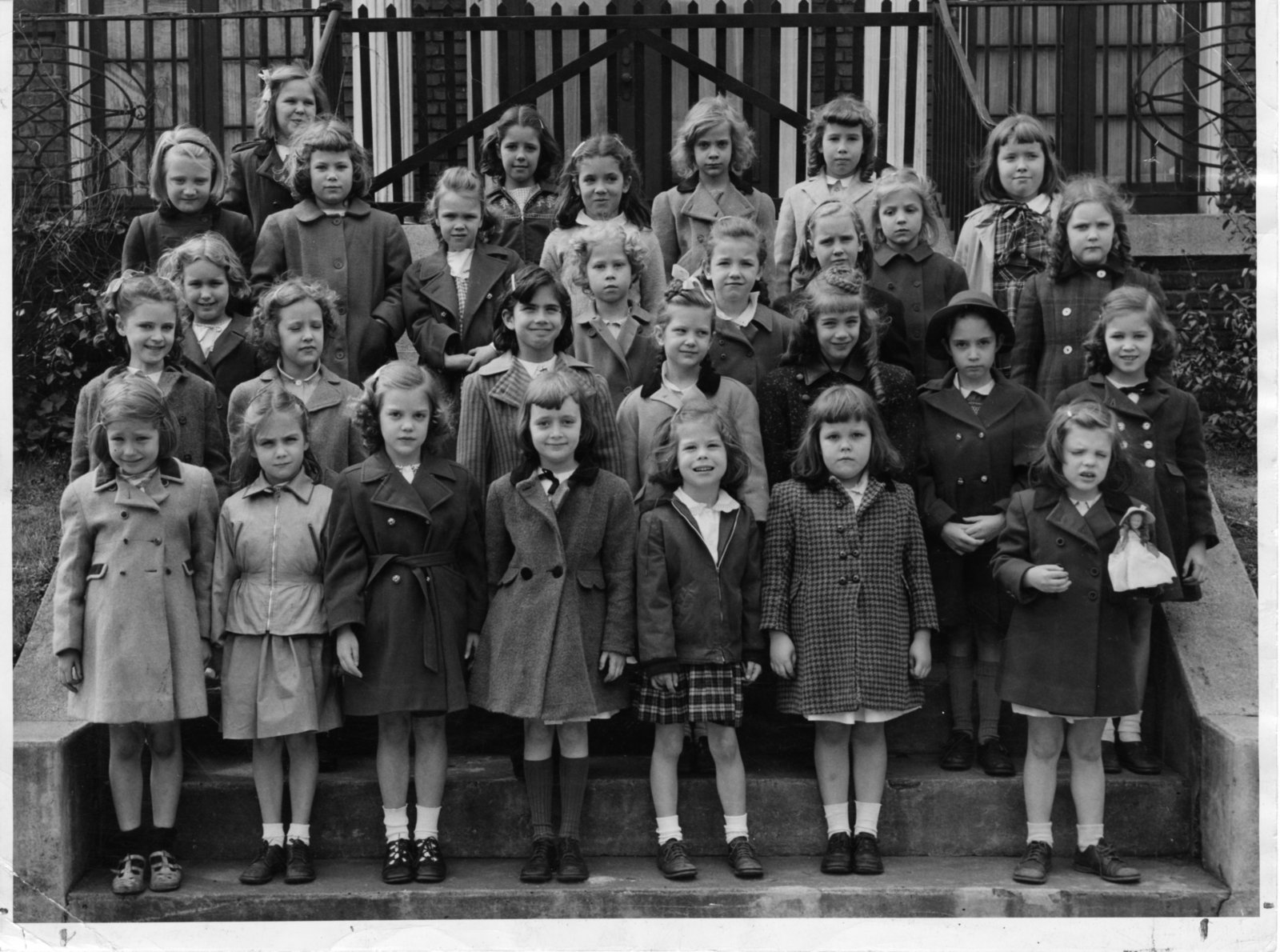 Class of 1959 pictured as Lower School students ca. 1949