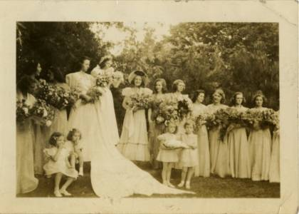 May Queen Virginia McGuire and Her Court, 1938