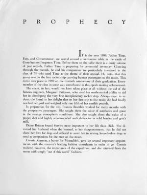 """""""The Collegiate School, Class of 1959"""" Prophecy and Last Will and Testament, 1959, p. 1"""