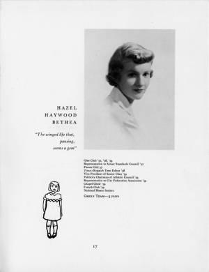 Hazel Haywood Bethea, 1959 Torch, p. 17