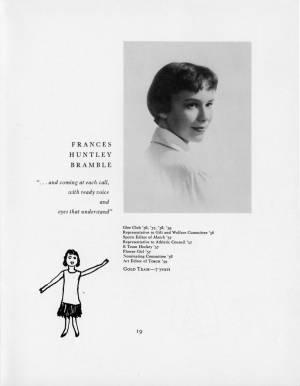 Frances Huntley Bramble, 1959 Torch, p. 19