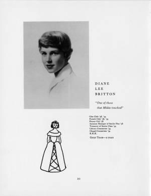 Diane Lee Britton, 1959 Torch, p. 20