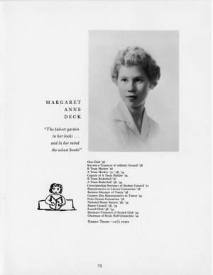 Margaret Anne Deck, 1959 Torch, p. 23