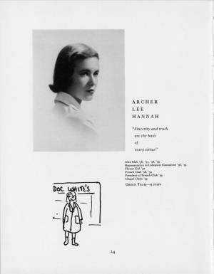 Archer Lee Hannah, 1959 Torch, p. 24
