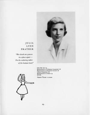 Julia Lynn Prather, 1959 Torch, p. 29