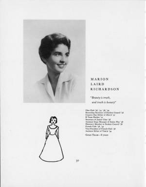 Marion Laird Richardson, 1959 Torch, p. 30