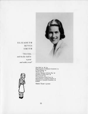 Elizabeth Rives Smith, 1959 Torch, p. 33