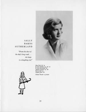 Sally Barns Sutherland, 1959 Torch, p. 35