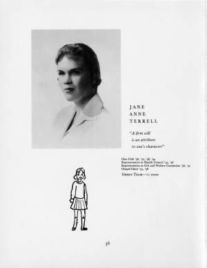 Jane Anne Terrell, 1959 Torch, p. 36