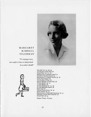 Margaret Kimball Tilghman, 1959 Torch, p. 37
