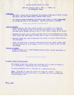 May Day Memo, 1963