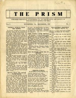 The Prism, Vol. 1, No. 1, December 1920