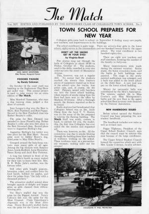 The Match, November 1958, p. 1
